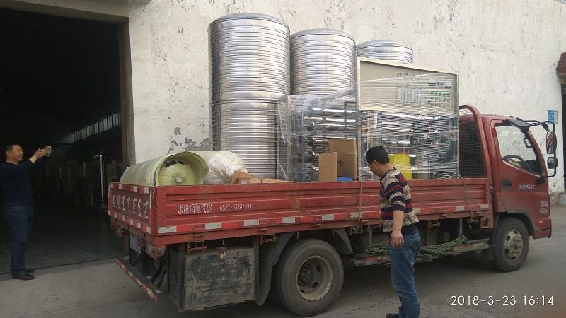 沭阳 2吨双级纯净水设备发货