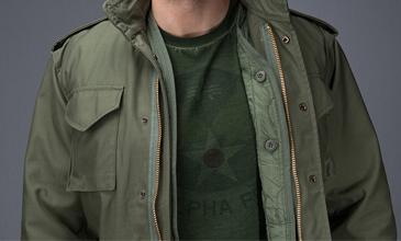 M65丛林迷彩风衣男