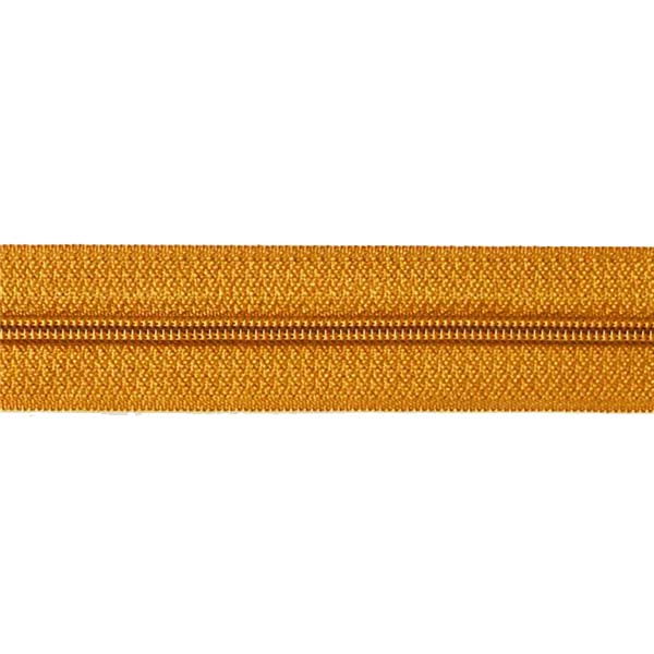 5# Golden Tape Nylon Long Chain With Golden Teeth