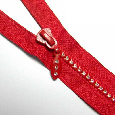5# Plastic Delrin Resin Red Open End Diamond Zipper   - 副本
