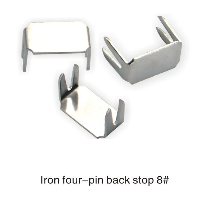 8# Iron Four-Pin  Front Stop Of Zipper