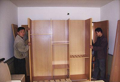 搬家拆装家具衣柜如何组装,木衣柜安装示意图