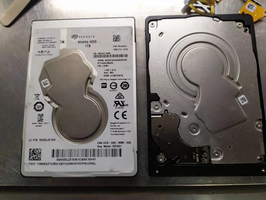 1T 7mm希捷小白盘摔坏,卡头,完美恢复 成功案例 第2张