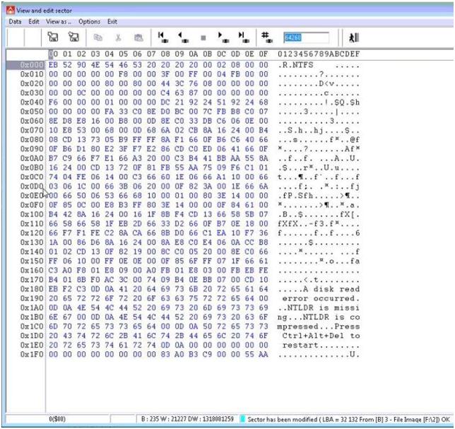 使用丢失的引导重建NFTS分区—PC-3000数据提取器 技术文章 第7张