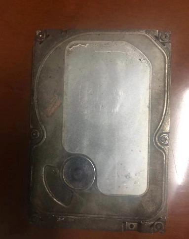 某县城监控遭遇火灾之后硬盘被烧不识别数据恢复案例