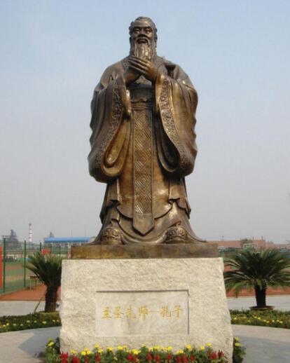 孔子铜雕塑|孔子雕塑厂家