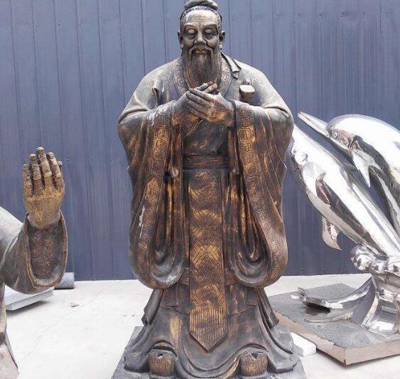 2米铸铜孔子铜像