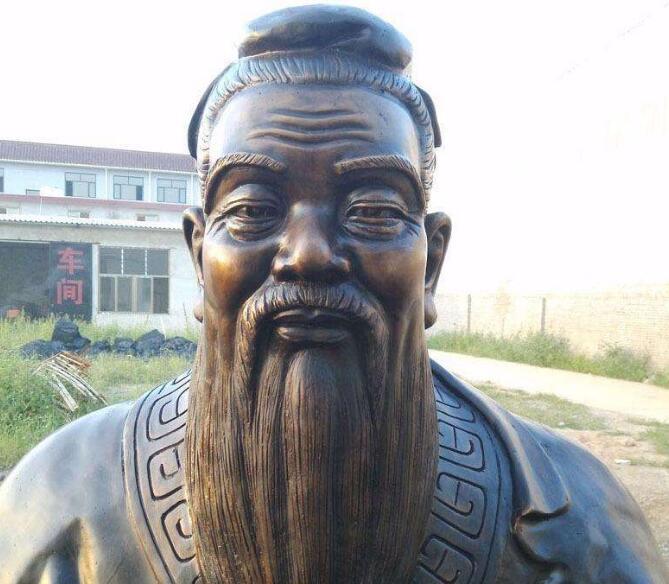 孔子铜雕半身像