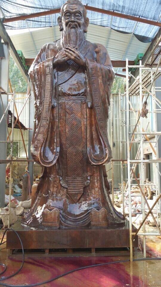 玻璃钢孔子雕塑