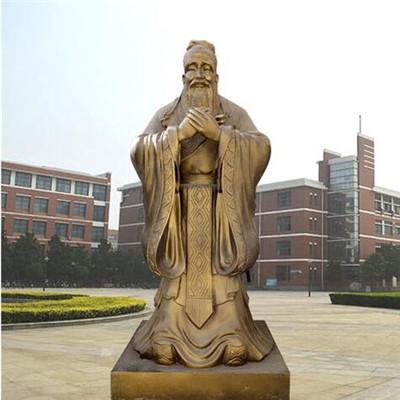 校园孔子铜像