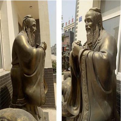 孔子铜雕制作