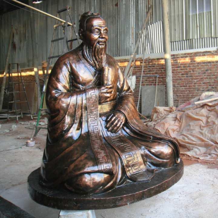 纯铜孔子雕塑
