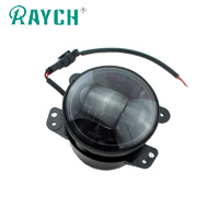 Black 4 Inch 30W Led white Fog Light