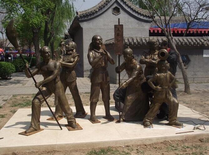 街头卖艺人物雕塑
