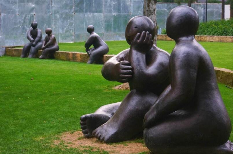 河北园林人物雕塑