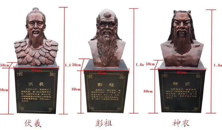 伏羲/彭祖/神农铜雕像定做厂家