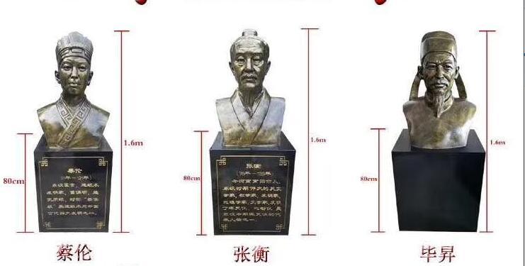 蔡伦/张衡/毕昇铜像定做厂家
