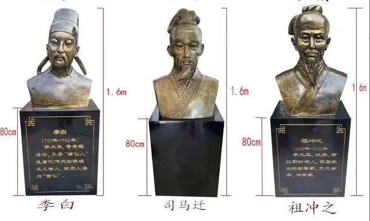 李白/司马迁/祖冲之铜像厂家