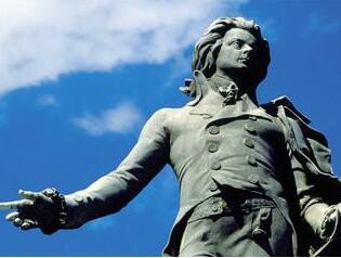 莫扎特铜雕