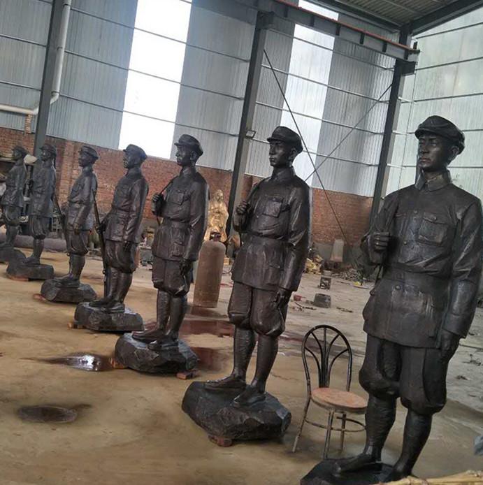 抗战人物铜雕