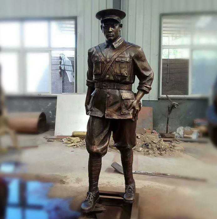 抗战将军铜雕