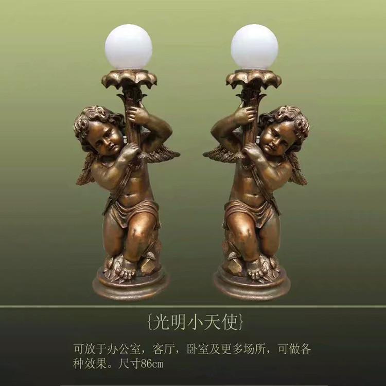 欧式人物雕塑-小天使铜雕