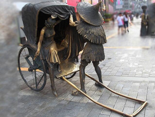 黄包车雕塑厂家