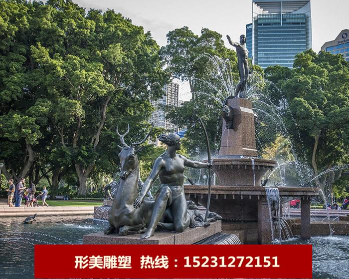喷泉人物铜雕
