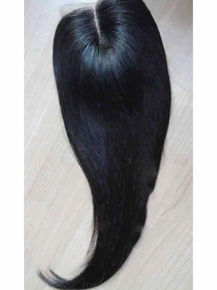 Lace Top Closure With Virgin Quality Human Hair In Black Quility
