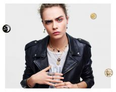 迪奥(Dior)推出以Cara Delevingne为特色的新珠宝广告系列