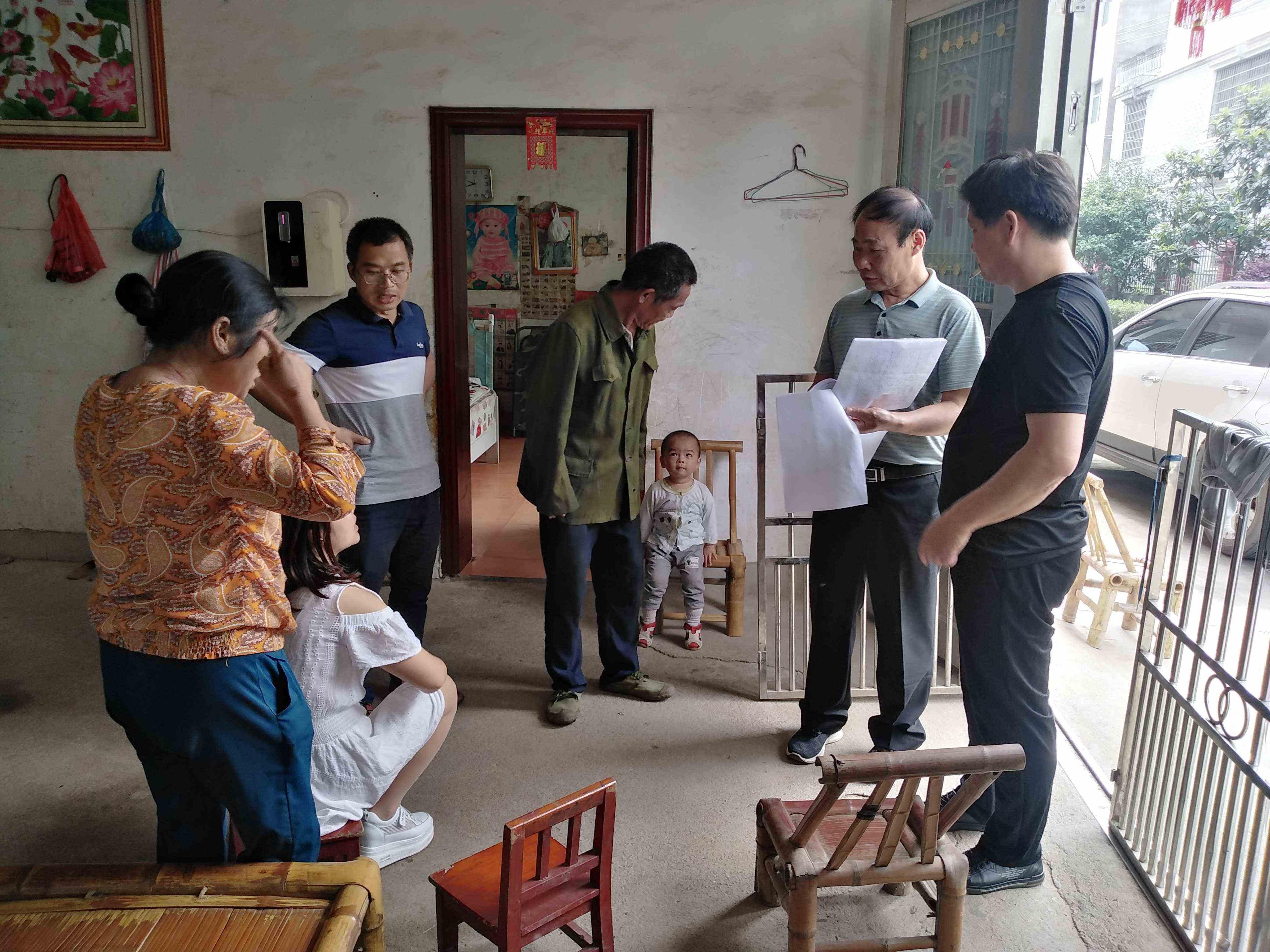 芦洲乡:开展低保入户调查工作