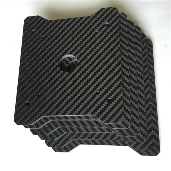 1mm 2mm 3mm 4mm 5mm 6mm 3K carbon fiber sheet plate CNC cutting drones Quadcopter Frame parts Factory customized