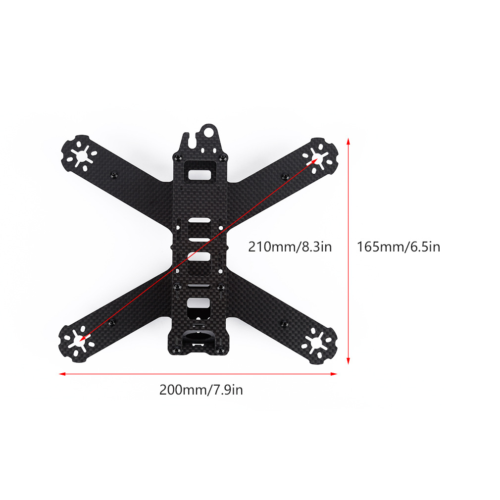 1mm 2mm 3mm 3K carbon fiber sheet plate CNC cutting  drones Quadcopter Frame