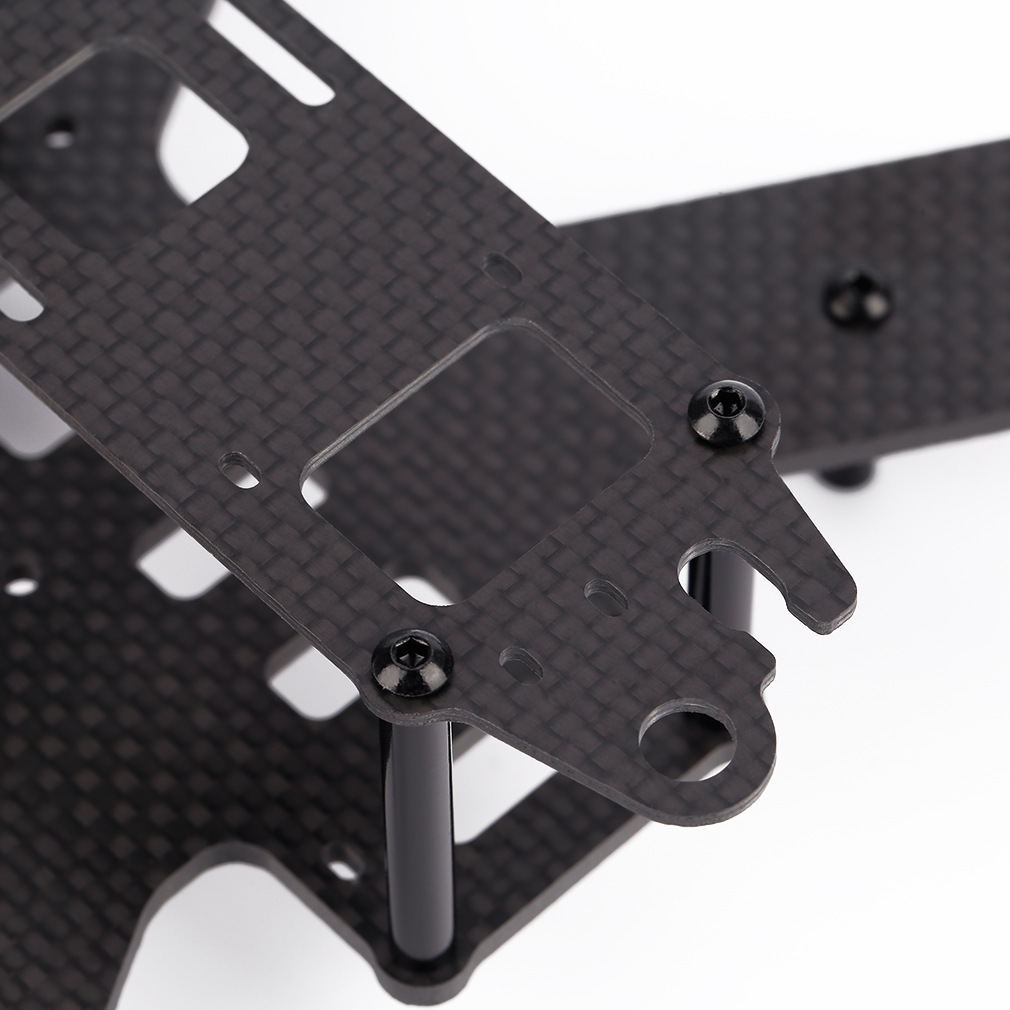 1mm 2mm 3K carbon fiber sheet plate CNC cutting  drones Quadcopter Frame