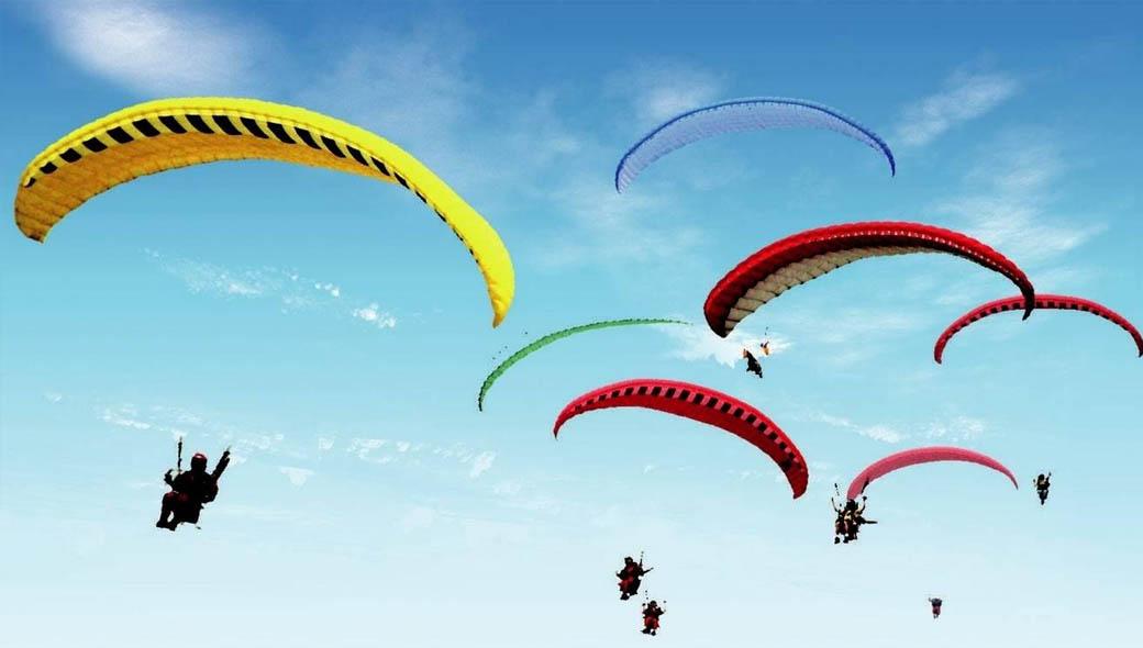 动力伞广告