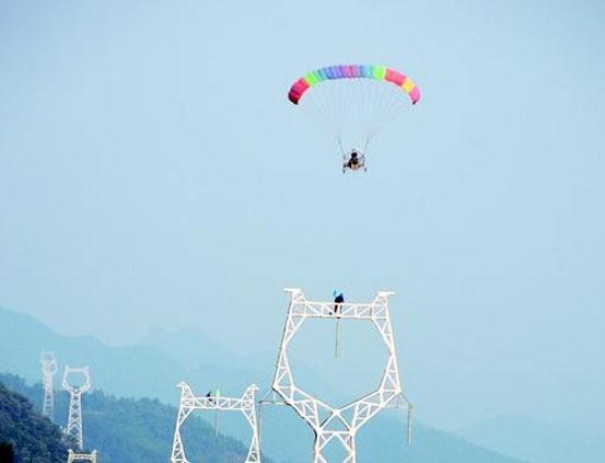 动力伞架线