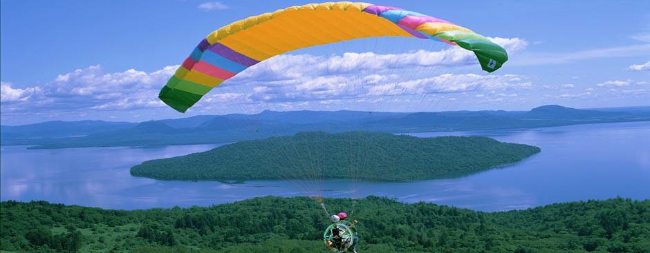 莲青山动力伞体验飞行