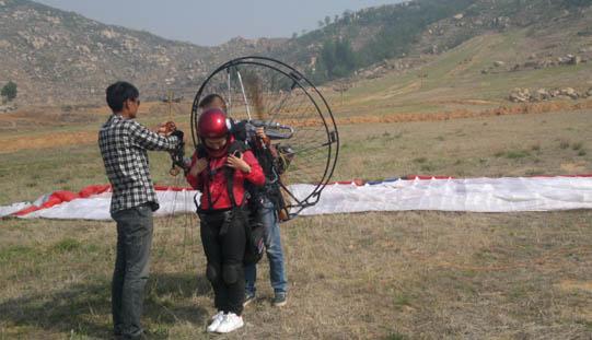 动力伞双人带飞