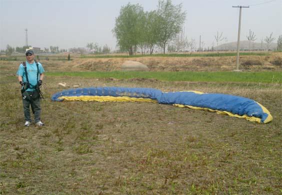 海南滑翔伞培训进行中
