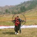 双人动力伞带飞