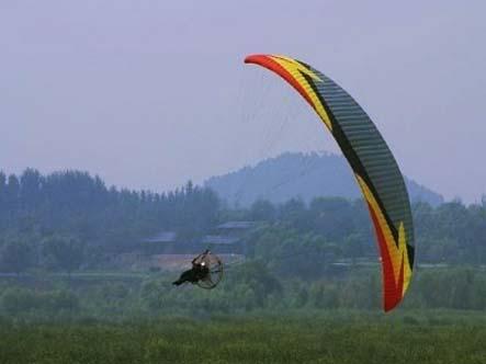 动力伞摆荡动作