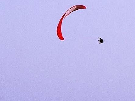 滑翔伞空中摆荡