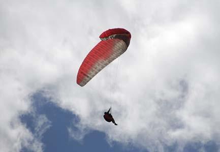 滑翔伞前缘塌陷
