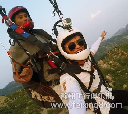 莲青山双人滑翔伞带飞