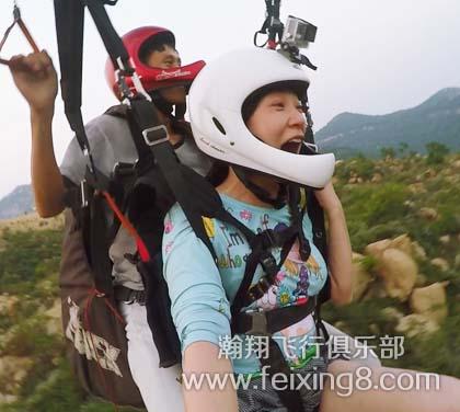 莲青山双人滑翔伞带飞体验飞行