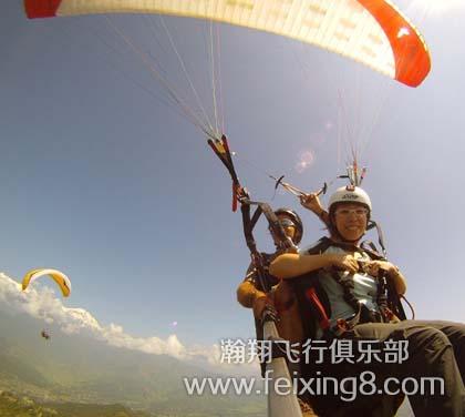 莲青山双人滑翔伞体验飞行