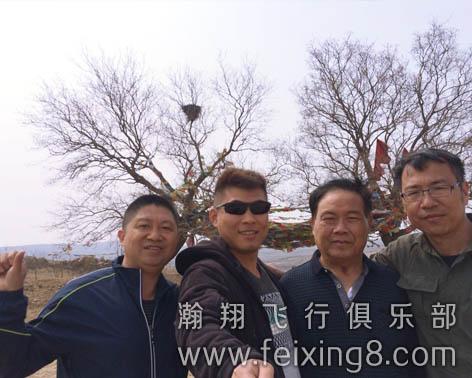 吉林滑翔伞友老王和教练合影
