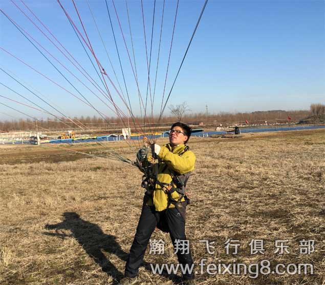 来自宿迁的江苏滑翔伞学员阿路