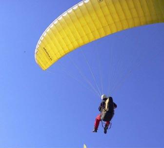滑翔伞教练证考核进行中