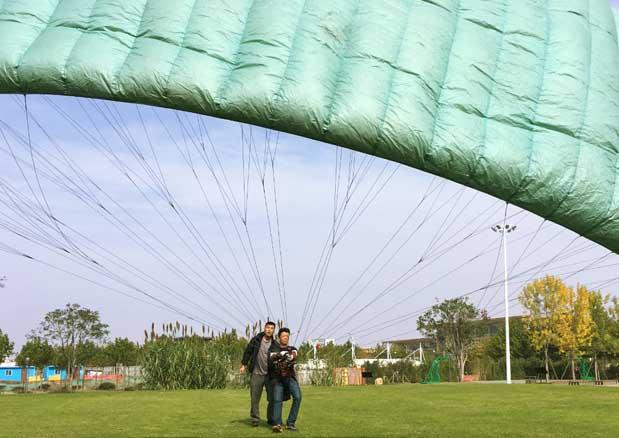 福建滑翔伞老黄练习中